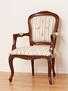マルシェ チェアー 肘付 ブラウン アンティーク 椅子 チェア(代引き不可)【送料無料】