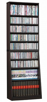 本棚 収納 可動棚 ディスプレイ SOHO 書棚W60 ダークブラウン(代引き不可)【送料無料】