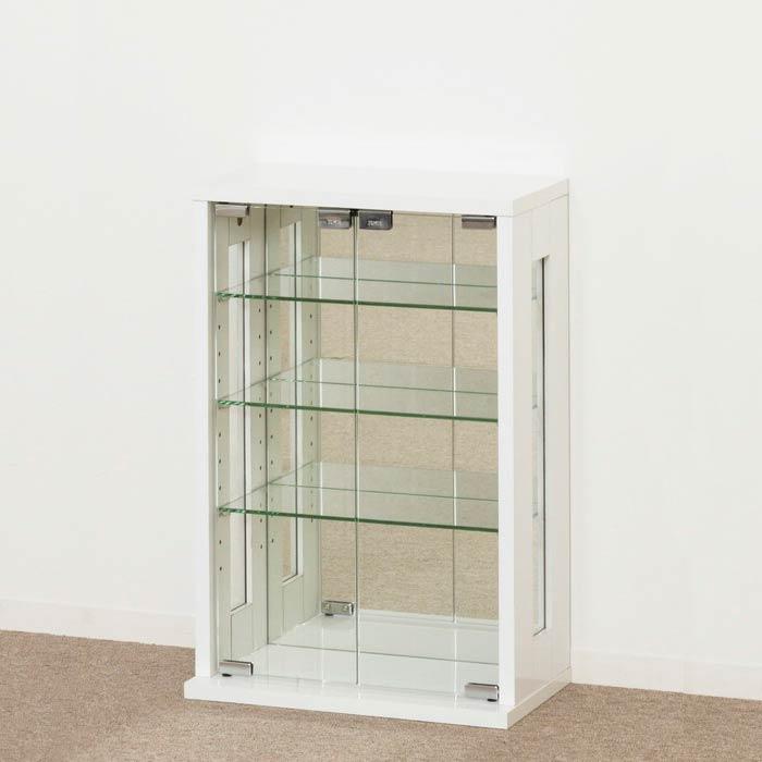 クロシオ 卓上コレクションケース 縦型 ホワイト(代引不可)【送料無料】
