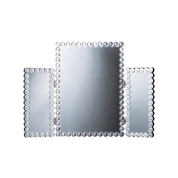 鏡 三面鏡 卓上 卓上鏡 ミラー クロシオ ミラー 化粧鏡(代引不可)【送料無料】