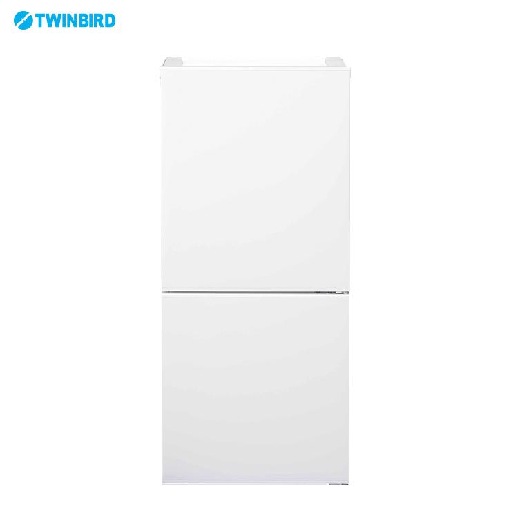 ツインバード HR-E911-W 110L ファン式冷凍冷蔵庫 冷蔵庫 ホワイト 2段引出式 コンパクト(代引不可)【送料無料】
