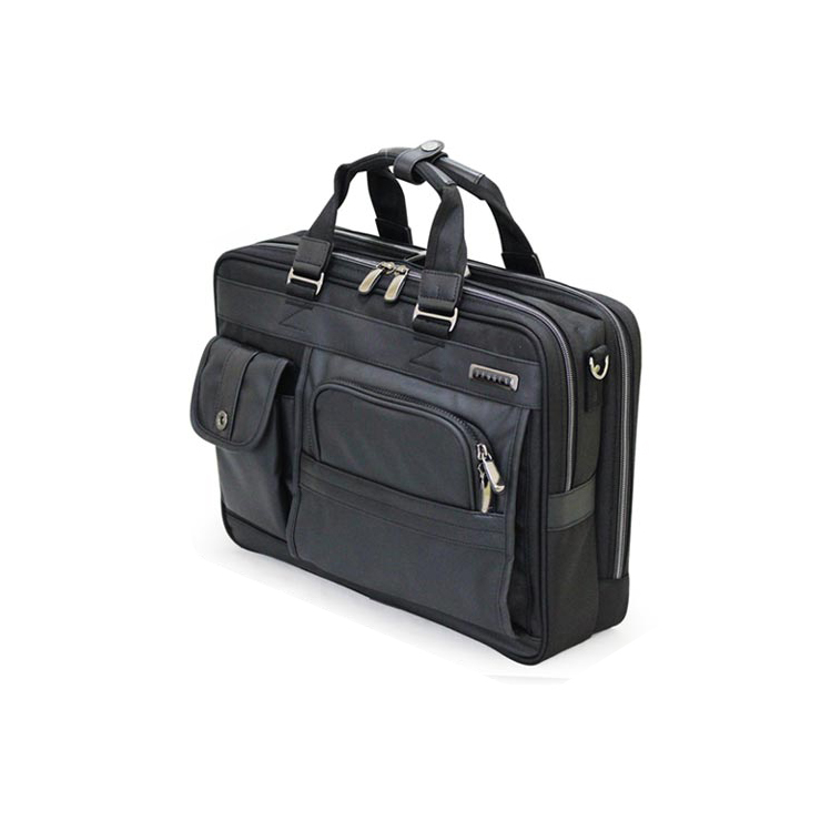 ウノフク 23-5589 バジェックス ブリーフケース(Wルーム型) ブラック キャリーバー固定ベルト付き ビジネスバッグ 撥水(代引不可)【送料無料】