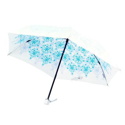 UVION 3951 プレミアムホワイト50ミニ クリスタル ブルー 折りたたみ傘 日傘 軽量 丈夫 エレガント(代引不可)【送料無料】
