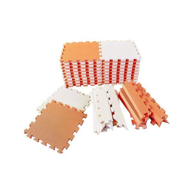 リトルプリンセス Little Princess 抗菌フロアーマット ツートンカラー オレンジ&ベージュ【送料無料】