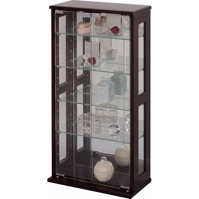 ガラスラック 中 BR コレクションケース ワイド フィギュア ディスプレイ ガラスケースガラスラック 80cm(代引不可)【送料無料】