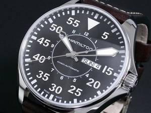 ハミルトン HAMILTON 腕時計 カーキ パイロット H64715535【送料無料】