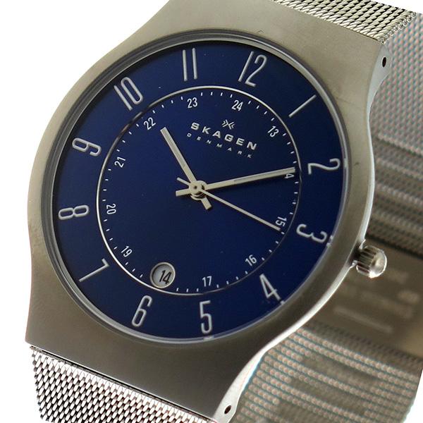 スカーゲン SKAGEN ウルトラスリム チタン クオーツ 腕時計 時計 233XLTTN ブルー