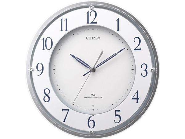 シチズン スリーウェイブM823 電波掛け時計 4MY823-003