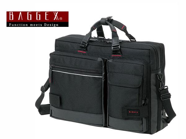 バジェックス BAGGEX 3WAY ビジネスバッグ メンズ 23-5515 ブラック