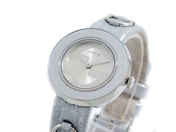 グッチ GUCCI Uプレイ クオーツ レディース 腕時計 ベゼル&替えベルトセット ya129515-SV-WHT【送料無料】