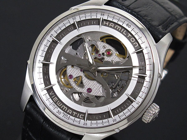 ハミルトン HAMILTON ジャズマスター ビューマチック スケルトン 腕時計 H42555751【送料無料】【S1】