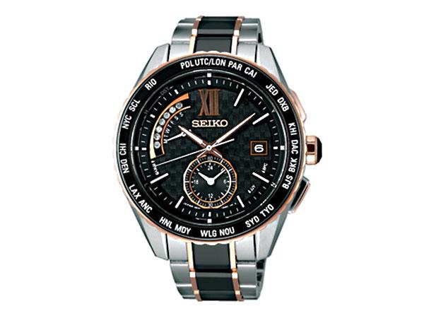 セイコー SEIKO ブライツ ソーラー 電波 メンズ デュアルタイム 腕時計 SAGA174 国内正規