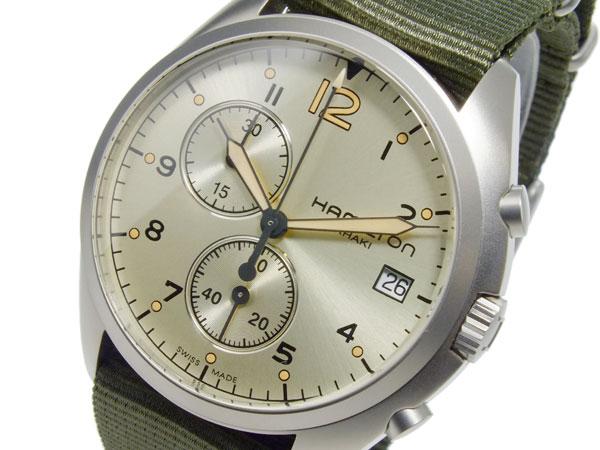 ハミルトン HAMILTON カーキ パイロット パイオニア クオーツ メンズ クロノ 腕時計 H76552955【送料無料】
