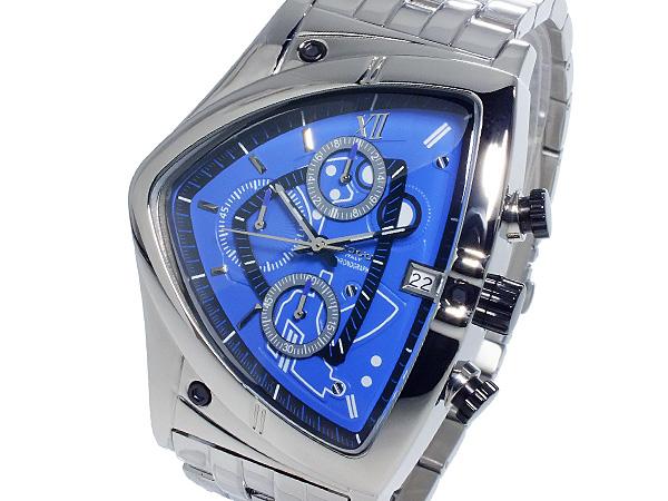 コグ COGU クオーツ メンズ クロノグラフ 腕時計 時計 C43M-BL【S1】