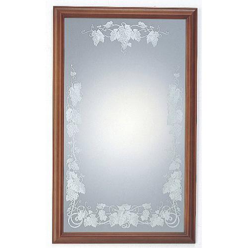 塩川光明堂 国産 ウォールミラー SAN 007 DB ダークブラウン ミラー 鏡(代引不可)【送料無料】