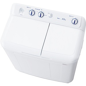 ハイアール 二槽式洗濯機 8.0kg JW-W80E-W ホワイト(代引不可)【送料無料】