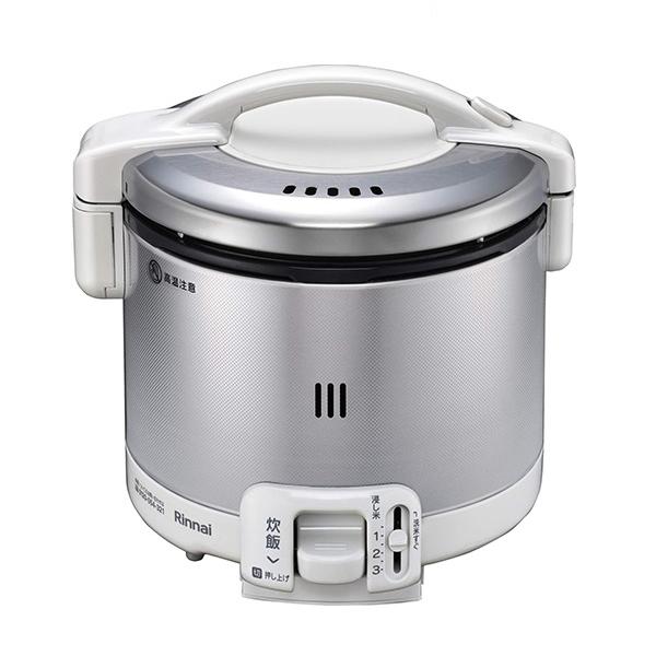 リンナイ ガス炊飯器 0.5~3合 こがまる RR-030FS(W)-LPG プロパンガス(LPガス) グレイッシュホワイト 計量カップ付【送料無料】