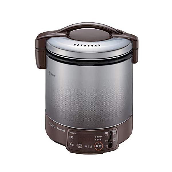 リンナイ タイマー付 ガス炊飯器 0.5~3合 こがまる RR-030VQT(DB)-13A 都市ガス ダークブラウン しゃもじ・計量カップ付【送料無料】【S1】