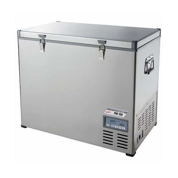 ナカトミ ポータブル冷凍冷蔵庫 128L PRF-128 冷凍庫 冷蔵庫 ステンレス(代引不可)【送料無料】