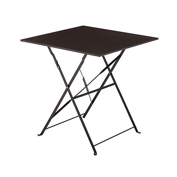 ベストコ ガーデニング テーブル スクエア ボタニカルインテリア 鉄製 ブラウン 70×70cm NE-381 ガーデンファニチャー【送料無料】