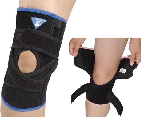 Yumi model ニークロス [男女兼用・左右兼用・1枚入り] #131705 (日本製) ブラック×ブルー(Lサイズ)/6点入り(代引き不可), 永大産業webshop:348986e1 --- onlinesoft.jp