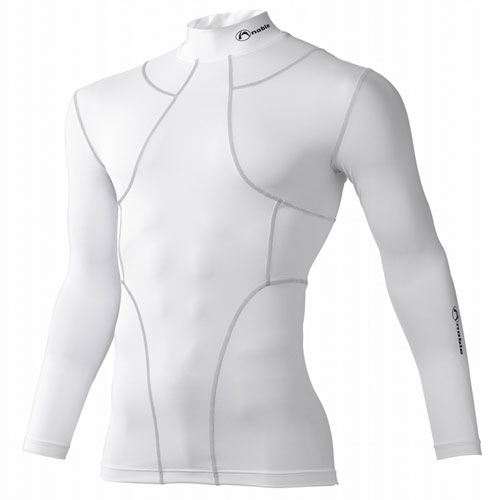皮膚感覚 YS オールインワン ロングスリーブシャツ [男女兼用] #400700 (日本製) ホワイト(Lサイズ)/12点入り(代引き不可)