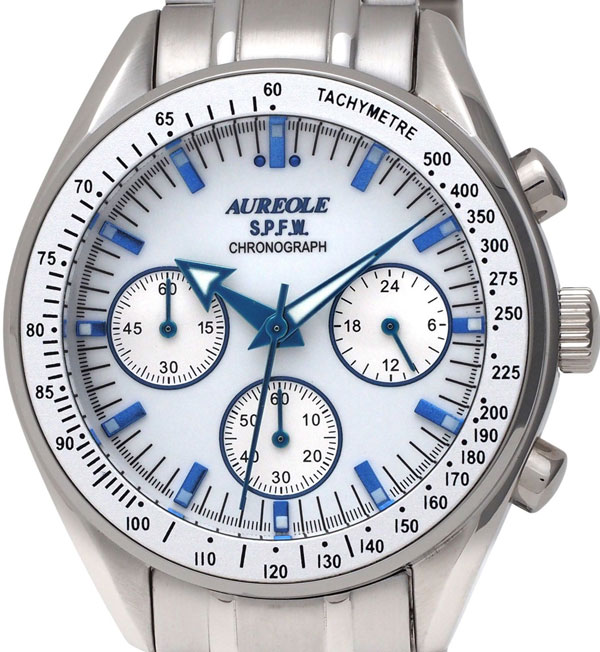 【AUREOLE】オレオール メンズ腕時計 SW-582M-3 アナログ表示 クロノグラフ 24時間表示付 10気圧防水 /5点入り(代引き不可)【S1】