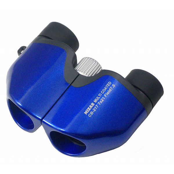 【MIZAR-TEC】ミザールテック 8倍21ミリ口径 コンパクト双眼鏡CB-217B メタリックブルー /5点入り(代引き不可)