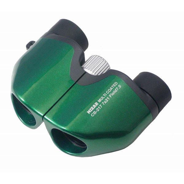 【MIZAR-TEC】ミザールテック 8倍21ミリ口径 コンパクト双眼鏡CB-217G メタリックグリーン /5点入り(代引き不可)