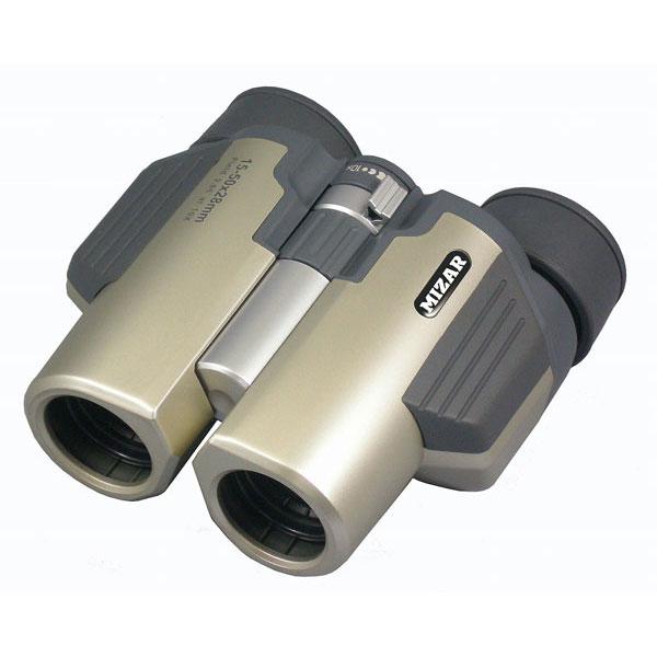 【MIZAR-TEC】ミザールテック 15~50倍28ミリ口径 ズーム コンパクト双眼鏡MBZ-1550 /5点入り(代引き不可)