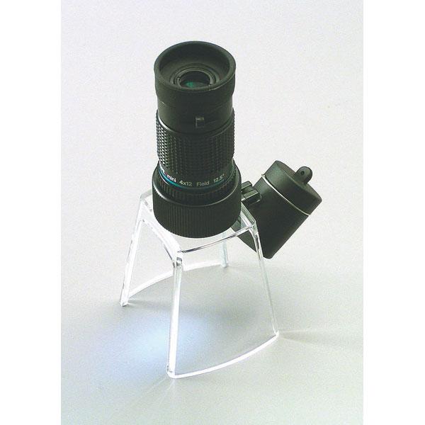【MIZAR-TEC】ミザールテック 単眼鏡変換アダプター LEDライト付き マイクロスタンド 日本製 ブラック /10点入り(代引き不可)