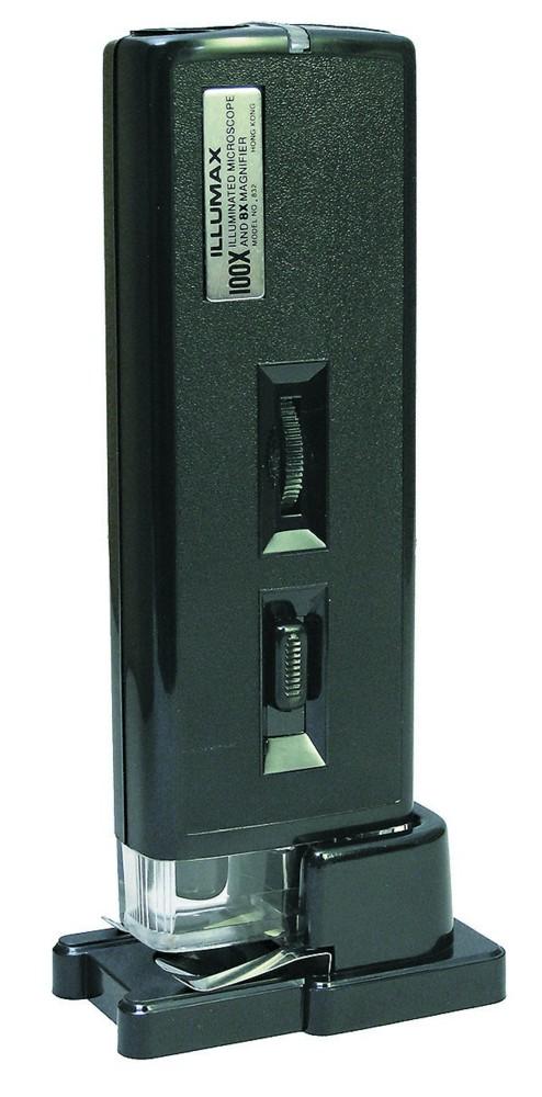 【MIZAR-TEC】ミザールテック 顕微鏡 携帯用 倍率100倍 ポケットタイプ 8倍ルーペ内蔵 NO832 /40点入り(代引き不可)