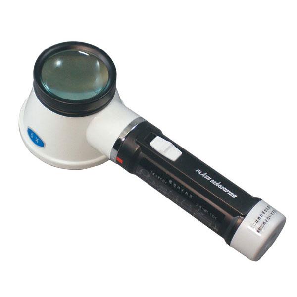 【MIZAR-TEC 】ミザールテック 手持ちルーペ 倍率5倍 レンズ径45mm ライト付 日本製 RF-350 /100点入り(代引き不可)【送料無料】