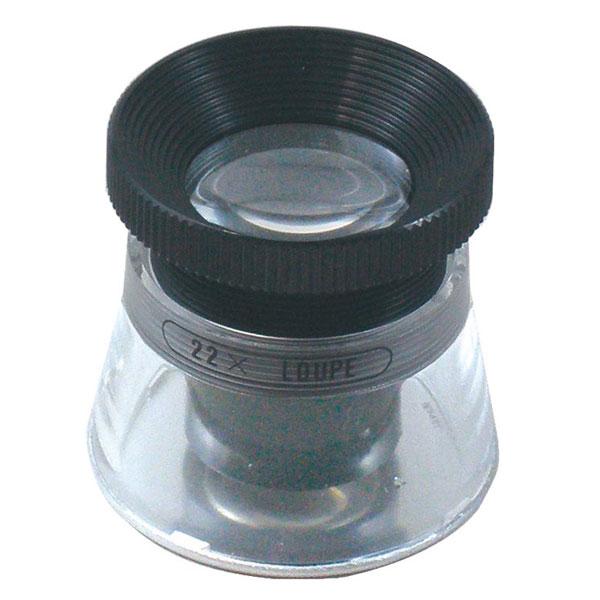 【MIZAR-TEC 】ミザールテック 高倍率ルーペ 倍率22倍 レンズ径15mm 0.1mm目盛り付き 日本製 RCS-22 /20点入り(代引き不可)【送料無料】【S1】