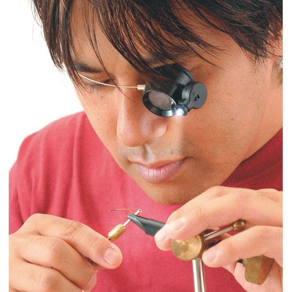 【TSK】検査用ルーペ 倍率5倍 レンズ径22mm LEDライト付 ワイヤーバンド 日本製 EY-5L /40点入り(代引き不可)【送料無料】