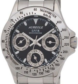【AUREOLE】オレオール レディース腕時計 SW-581L-1 24時間表示付 日付・曜日 10気圧防水 /1点入り(代引き不可)