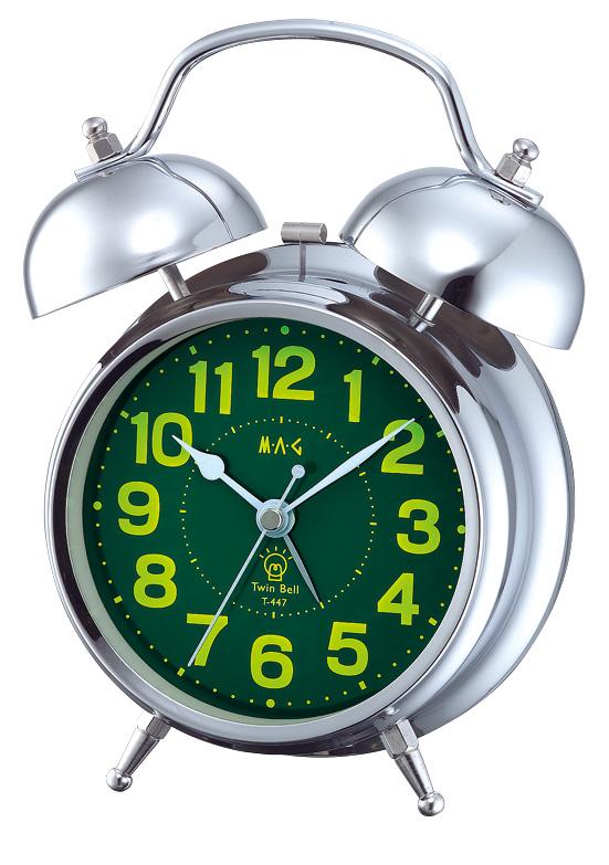 ベル音目覚し時計 T-447 ベルズ レッド/40点入り(代引き不可)【送料無料】【S1】