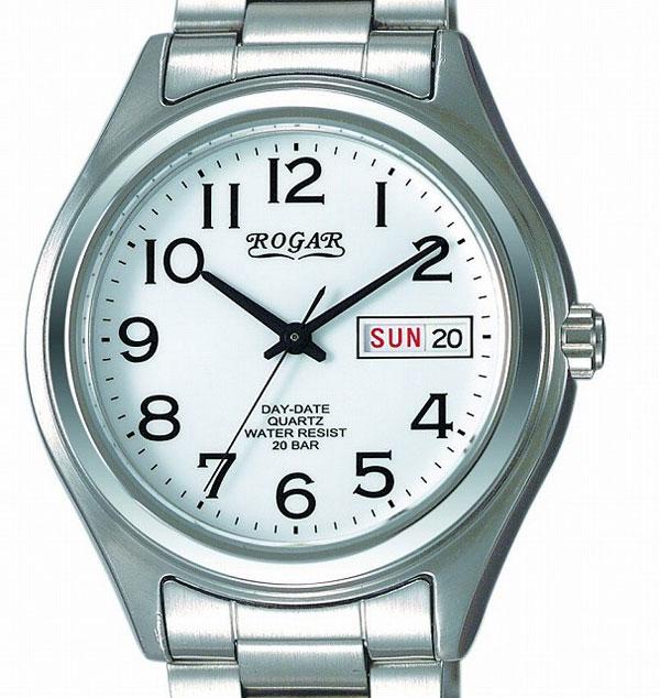 【ROGAR】ローガル メンズ腕時計 RO-026M-WS 20気圧防水(日本製) /1点入り(代引き不可)