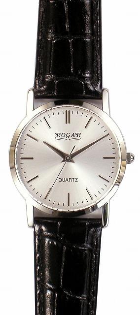 【ROGAR】ローガル メンズ腕時計 RO-060MB-B1 日常生活用防水(日本製) /5点入り(代引き不可)【送料無料】