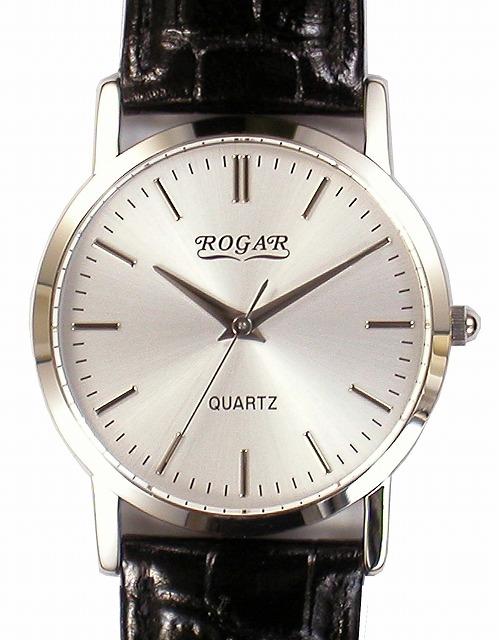 【ROGAR】ローガル メンズ腕時計 RO-060MB-B1 日常生活用防水(日本製) /5点入り(代引き不可)【S1】
