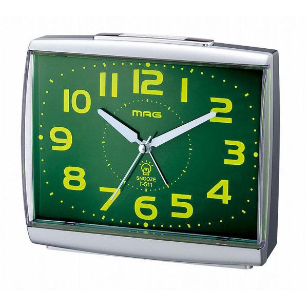 スタンダード目覚し時計 T-511 ビープインパクト 銀メタリック/36点入り(代引き不可)