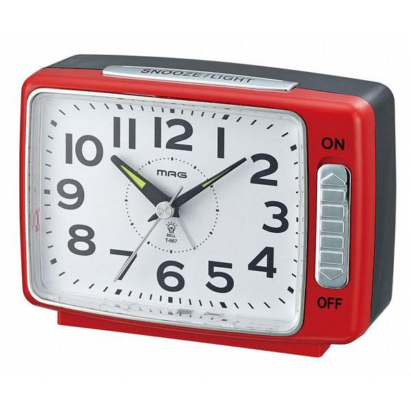 スタンダード目覚し時計 T-667 ベル之助 レッド/36点入り(代引き不可)【送料無料】【S1】
