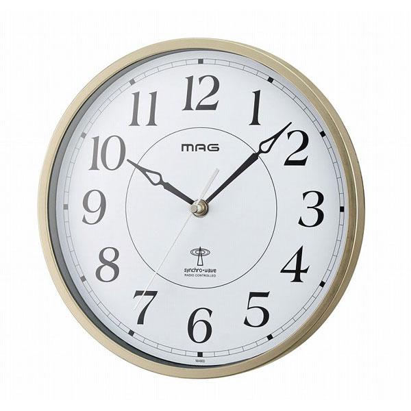 電波掛時計 W-603 エタノール /10点入り(代引き不可)【送料無料】