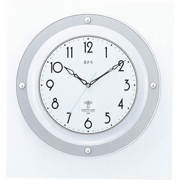 電波掛時計 W-372 アルビオレ /12点入り(代引き不可)【送料無料】
