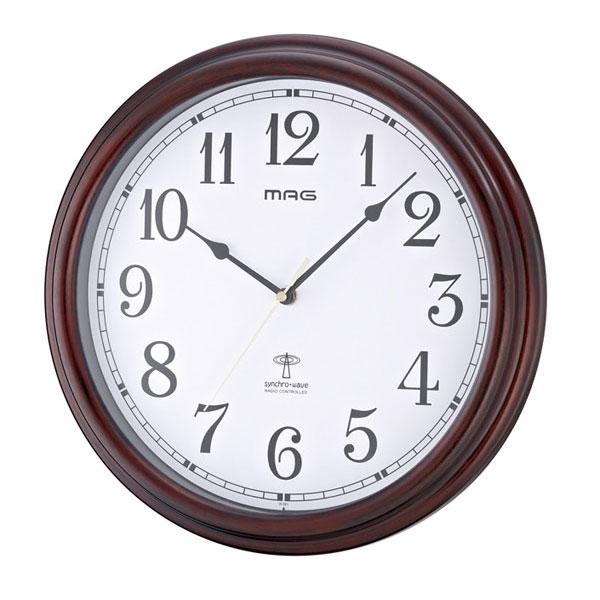 電波掛時計 W-561 流河 /10点入り(代引き不可)【送料無料】【S1】