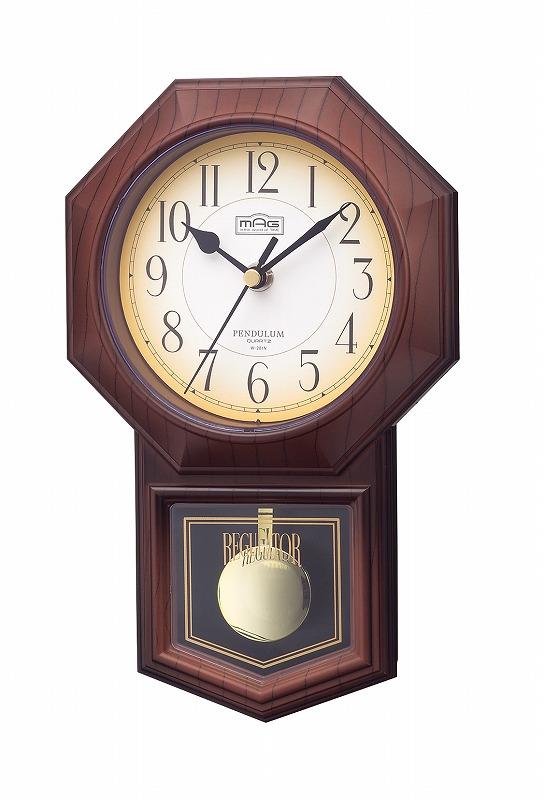 木枠掛時計 W-201N ニューミニトレンディー /24点入り(代引き不可)