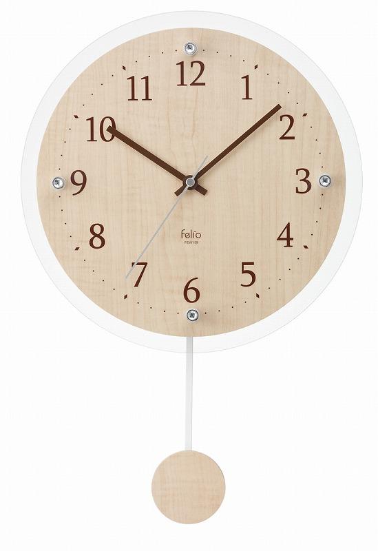 振り子時計 FEW159 スロータイム /8点入り(代引き不可)