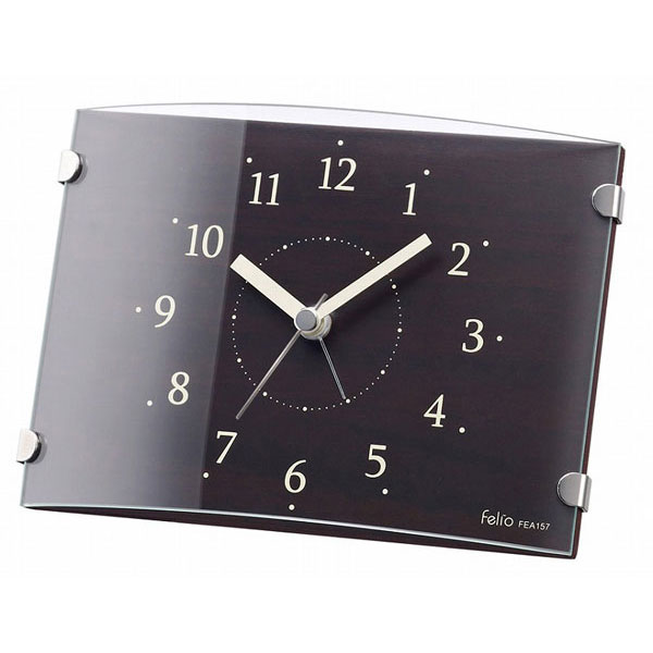 置時計 FEA157 クルトン ブラウン/20点入り(代引き不可)