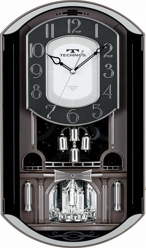 【TECHNOS】国内版権 テクノス 掛時計 W-541 /5点入り(代引き不可)【送料無料】【S1】