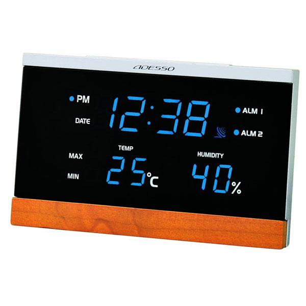 LED温湿度電波時計 C-8344 LED温湿度電波時計 C-8344/20点入り(代引き不可)【送料無料】【S1】